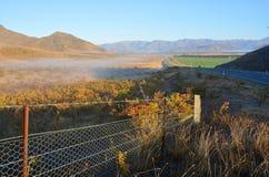 Vroege Ochtend in de Omarama-Vallei, Otago Nieuw Zeeland stock foto