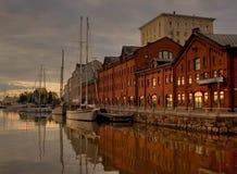 Vroege ochtend in Helsinki Stock Afbeeldingen
