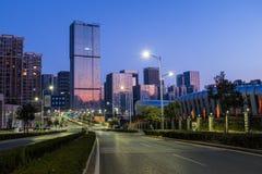 Vroege ochtend in Jinan Stock Foto