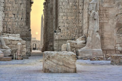 Vroege ochtend in Karnak stock foto