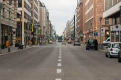 Vroege ochtend op Friedrichstrasse Stock Foto's