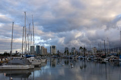 Vroege ochtend op het water in Hawaï Royalty-vrije Stock Afbeelding