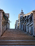 Vroege ochtend op Ponte Rialto in Venetië Stock Fotografie