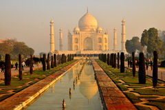 Vroege ochtend in Taj Mahal Stock Foto's