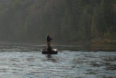 Vroege ochtend visserij stock fotografie