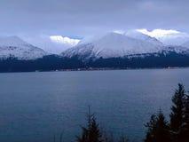 Vroege ochtendgletsjer in Alaska stock afbeelding