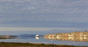 Vroege ochtendmening van Castine, Maine royalty-vrije stock foto's