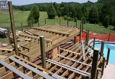 Vroege stadia van de bouw van een pool Royalty-vrije Stock Foto