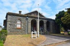 Vroeger Gerechtsgebouw in Port Fairy, VIC stock afbeeldingen