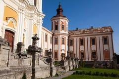 Vroeger Jezuïetklooster en Seminarie, Kremenets, de Oekraïne Royalty-vrije Stock Foto's