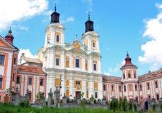 Vroeger Jezuïetklooster en Seminarie, Kremenets, de Oekraïne royalty-vrije stock afbeelding
