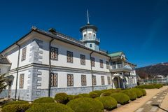 Vroeger Kaichi School in Matsumoto, Japan royalty-vrije stock foto's