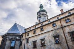 Vroeger klooster in Lviv royalty-vrije stock foto