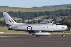 Vroeger Koninklijk Australisch de Vliegtuigenbedrijf CA-27 van de Luchtmachtraaf Commonwealth het Noordamerikaanse F-86 Sabel str Royalty-vrije Stock Afbeeldingen