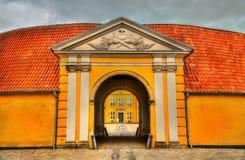 Vroeger Koninklijk Herenhuis, nu Eigentijds Art Museum in Roskilde, Denemarken stock afbeeldingen