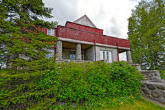 Vroeger Landgoed van Dr. Gustaf Johannes Winter in Sortavala Stock Fotografie