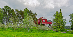 Vroeger Landgoed van Dr. Gustaf Johannes Winter in Sortavala Stock Foto's
