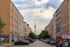 Vroeger Oost-Berlijn stock afbeeldingen