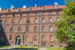Vroeger Pools Postkantoor in Gdansk, Pola stock foto's