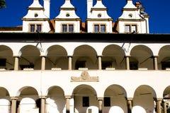 vroeger stadhuis, Vierkant van Hoofdpaul, Levoca, Slowakije stock afbeelding