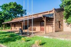 Vroeger station in de stad van Coronel Bogado stock afbeelding