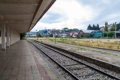Vroeger station in Puerto Varas, Chi royalty-vrije stock afbeelding