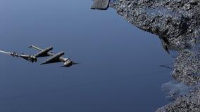 Vroeger stortplaats giftig afval, de verontreinigingswater van de olielagune en grond Royalty-vrije Stock Afbeeldingen