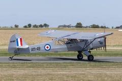 Vroegere Koninklijke Australische Luchtmacht RAAF Taylorcraft Auster Mk 3 enige motor lichte vliegtuigen vh-MHT A11-49 royalty-vrije stock afbeeldingen