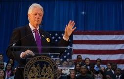 Vroegere President Bill Clinton spreekt Stock Foto's