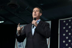 Vroegere Senator van Verenigde Staten van Pennsylvania, Republikeins Rick Santorum, campagnes voor voorzitterschap stock fotografie