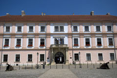 Vroegere Slavonian-Bevelhebber Headquarter, Osijek, Kroatië Royalty-vrije Stock Fotografie