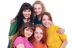 Vrolijk bedrijf van gelukkige meisjes Stock Afbeeldingen