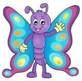 Vrolijk beeld 1 van het vlinderthema royalty-vrije illustratie