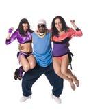 Vrolijk dansend team Stock Foto