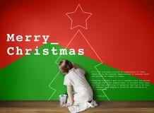 Vrolijk de Gebeurtenisconcept van de Kerstmisviering Royalty-vrije Stock Afbeelding