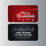 Vrolijk de kaartmalplaatje van de Kerstmisgift vector illustratie
