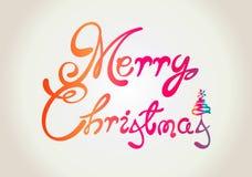 Vrolijk de tekstontwerp van Kerstmis vector illustratie