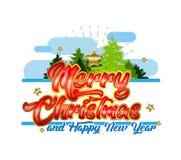 Vrolijk de typografieontwerp van de Kerstmisgroet Royalty-vrije Stock Fotografie