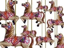 Vrolijk-gaan-rond Paarden Royalty-vrije Stock Afbeeldingen