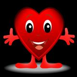 Vrolijk hart, post aan de dag van heilige Valentin stock illustratie