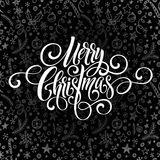 Vrolijk het handschriftmanuscript van de Kerstmisgroet letteringx op een bordgroet Vector illustratie Stock Afbeelding