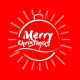 Vrolijk het kentekensymbool van de Kerstmisgroet Royalty-vrije Stock Afbeelding
