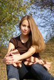 Vrolijk jong meisje Stock Foto's