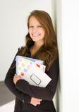 Vrolijk jong studentenmeisje. royalty-vrije stock afbeeldingen