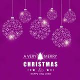 Vrolijk Kerstmis creatief ontwerp met roze vector als achtergrond vector illustratie