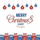 Vrolijk Kerstmis creatief ontwerp met witte vector als achtergrond royalty-vrije illustratie