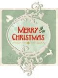 Vrolijk Kerstmis retro teken vector illustratie