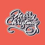 Vrolijk Kerstmis Van letters voorziend Kenteken Stock Fotografie