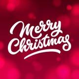 Vrolijk Kerstmis Van letters voorziend Kenteken Royalty-vrije Stock Fotografie