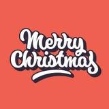 Vrolijk Kerstmis Van letters voorziend Kenteken Royalty-vrije Stock Afbeelding